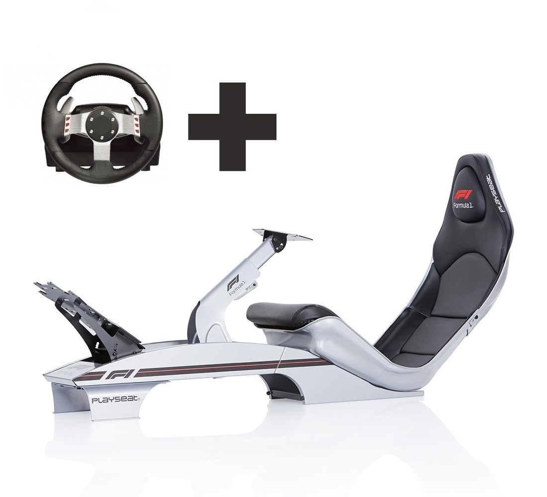 6321aa4bb90 Playseat® F1 Silver Ready to Race bundle - For all your racing needs