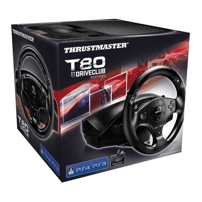 Thrustmaster Racing Wheel T80 DriveClub For PS3 PS4 Ready To Race Bundle