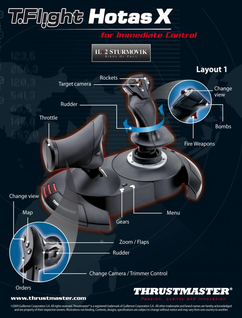 Thrustmaster T-Flight HOTAS X for PS3 + PC Ready to Fly bundle - For