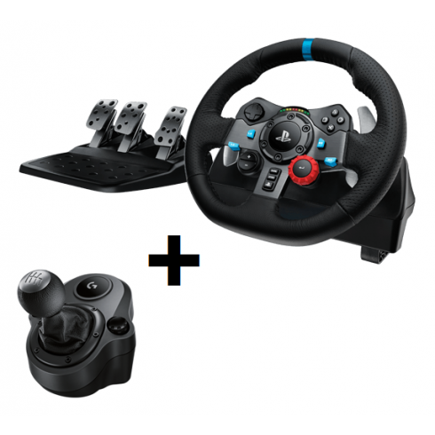 Logitech G29 + Shifter bundle for PS3 + PS4 + PC