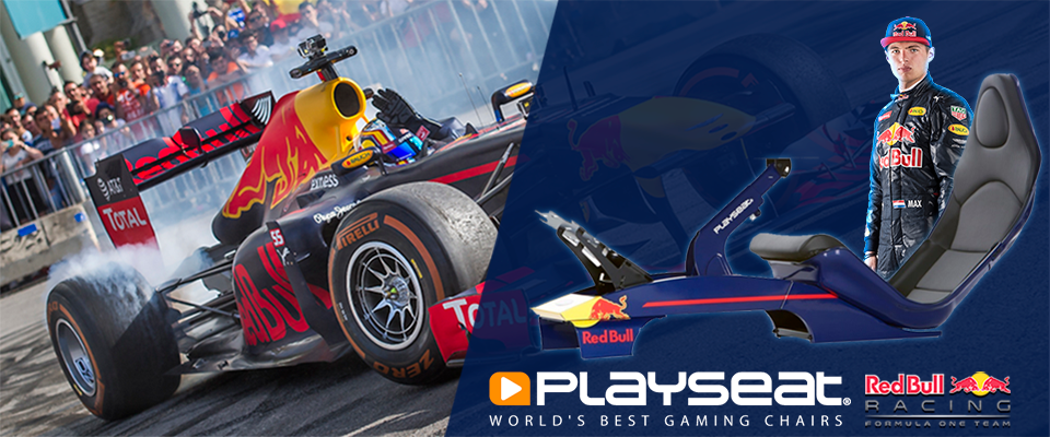 Max Verstappen races with Playseat® F1 Red Bull Racing!