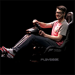 Playseat® on stage during the Forza Horizon 3 demo