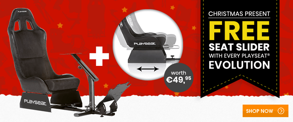 Christmas present: free Seat Slider with every Playseat® Evolution