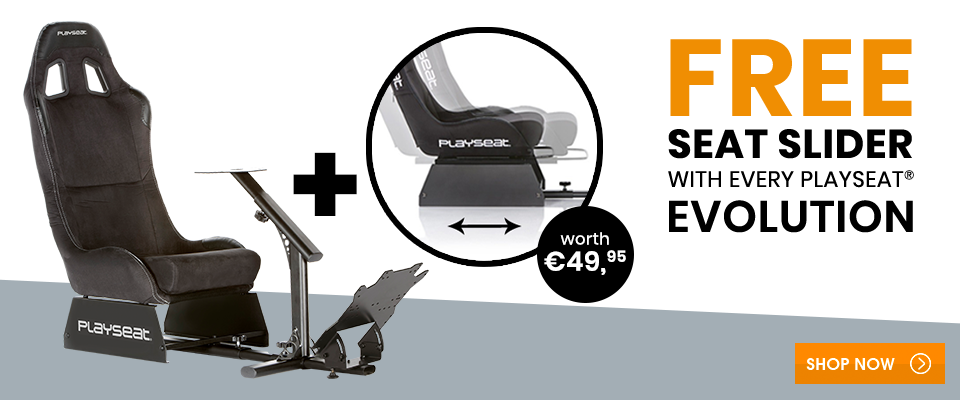 Free Seat Slider with every Playseat® Evolution!