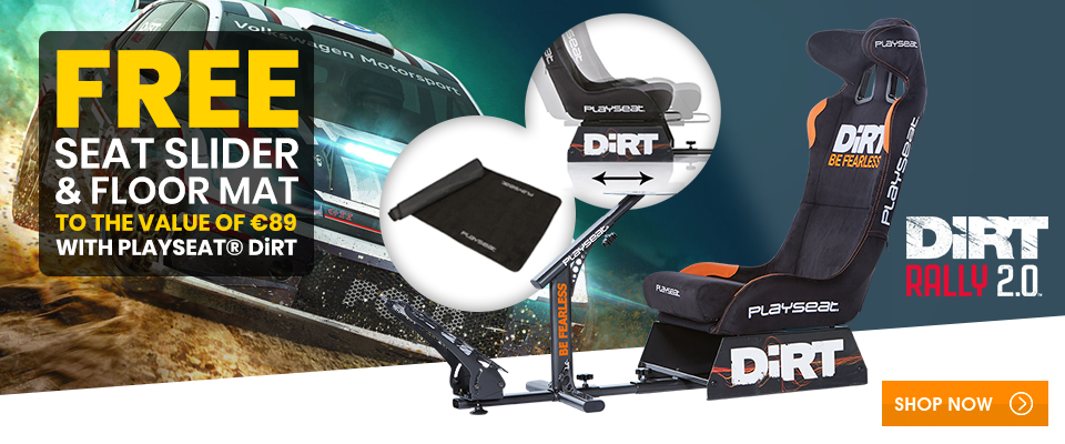 Free Seat Slider & Floor Mat to the value of €89 with Playseat® DiRT!