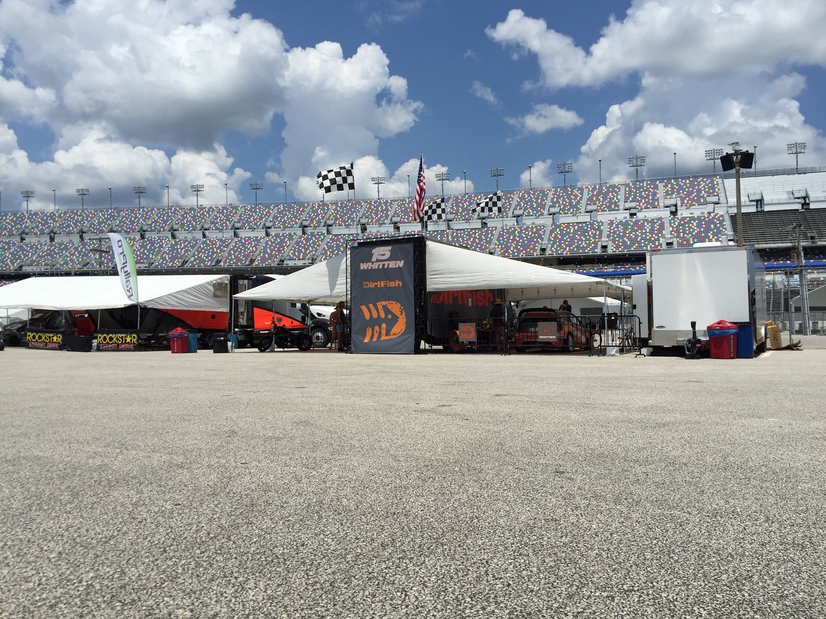 DirtFish stand at Red Bull GRC